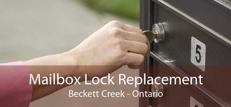 Mailbox Lock Replacement Beckett Creek - Ontario